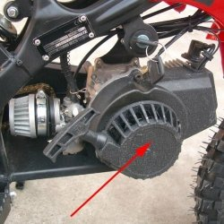 ALUMINIOWY SZARPAK MINI CROSS POCKET DIRT BIKE QUAD CZESCI