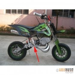 RAMA MINI CROSS 8 CALI MOTOREK DIRT BIKE CZESCI POCKET
