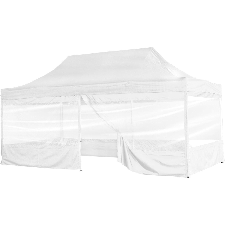 Biały ekspresowy pawilon ogrodowy namiot handlowy 3x6 m