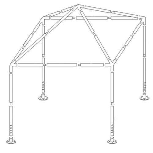 Konstrukcja Stelaż Pawilon Ogrodowy 3x3 Namiot