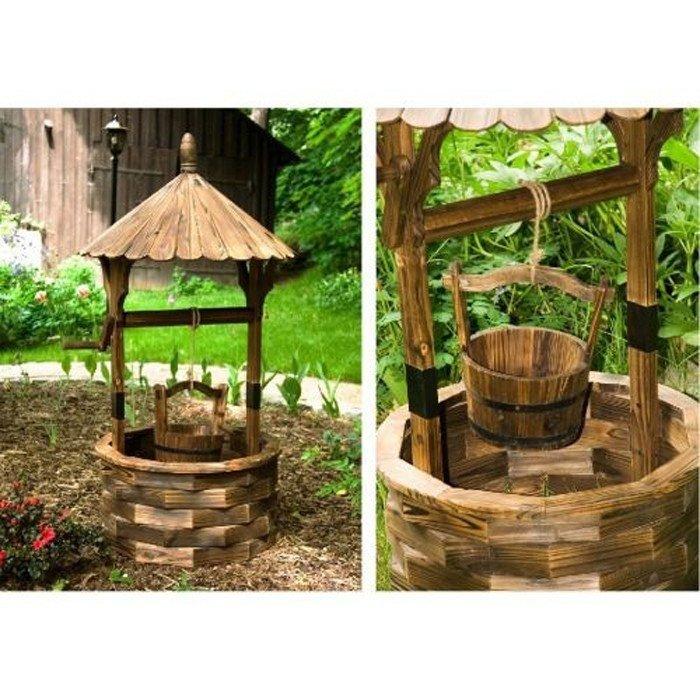 Studnia Na Ogród Dekoracja Ogrodowa Z Drewna