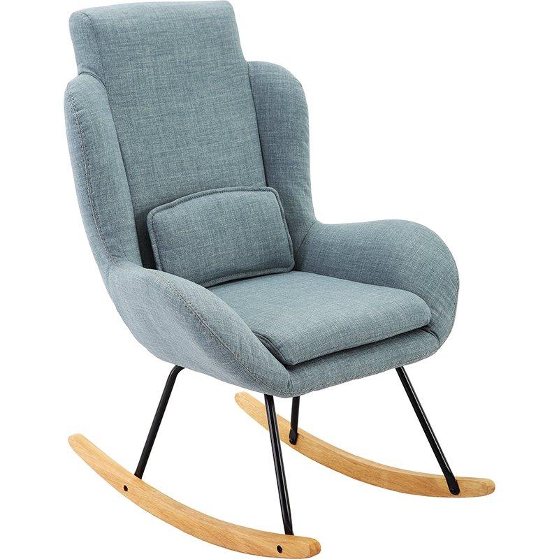 Szary Nowoczesny Fotel Bujany Krzesło Na Biegunach Szary Dom